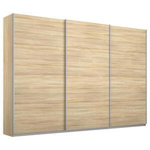 MID.YOU Schwebetürenschrank 3-türig sonoma eiche , Belluno 271 CM Eiche Dekor , Holzwerkstoff , 6 Fächer , 271x230x62 cm , bedruckt,Nachbildung , 000380067452