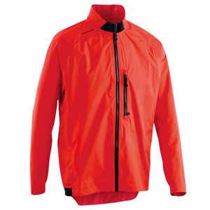 Fahrrad-Regenjacke ST 500 rot