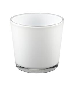 Übertopf aus Glas, rund