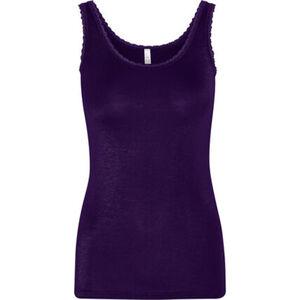 Speidel Unterhemd, Ärmellos, U-Ausschnitt, uni, Modal, Spitze, für Damen