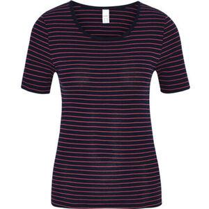 Speidel Unterhemd, Kurzarm, Rundhals-Ausschnit, Streifen, Baumwolle, für Damen