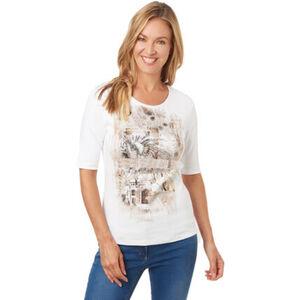 Olsen T-Shirt, Baumwolle, Front-Print, für Damen