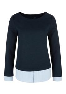 Sweatshirt mit Blusen-Layer