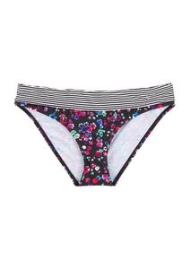 Bikinihose mit Umschlagbund