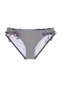 Bikinihose mit Bändchen-Details
