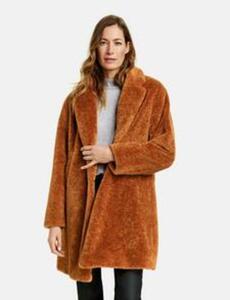 Mantel aus Teddyfell Braun 44/L