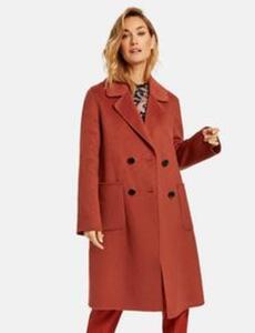 Mantel mit Wolle Rot 42/M