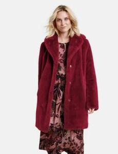 Mantel aus weichem Webpelz Rot 38/S