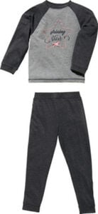 Erwin Müller Single-Jersey Kinder-Schlafanzug  Sterne langarm#lange Hose 122 / 128