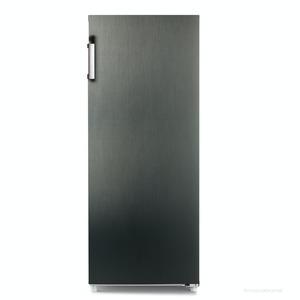 CHiQ Total NoFrost Gefrierschrank FSD166NE4,  A+, 166L, 144 x 54 cm, dark Inox Look,  elektronische Steuerung,  5 Gefrierschubladen, externer Griff