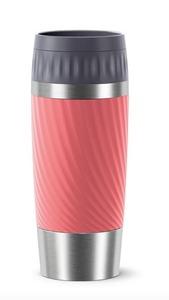 Emsa Isolierbecher TRAVEL MUG EASY TWIST, 0,36 L., koralle