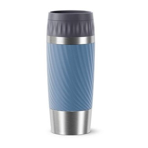Emsa Isolierbecher TRAVEL MUG EASY TWIST, 0,36 L., aquablau