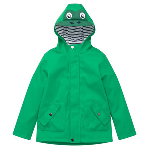 Kinder Regenjacke mit Frosch-Applikation