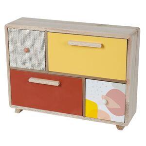 Mini-Kommode mit 4 Schubladen aus Holz