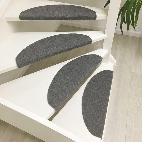 Stufenmatten-Set Grau-Meliert 15-teilig