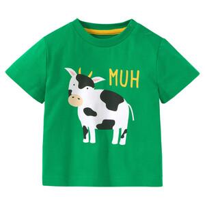 Baby T-Shirt mit Kuh-Print