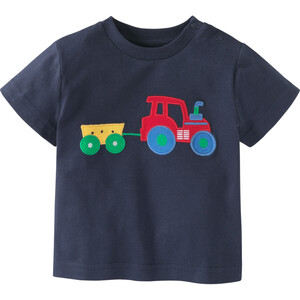 Baby T-Shirt mit Trecker-Applikation