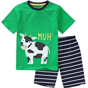 Jungen Shorty mit Kuh-Applikation