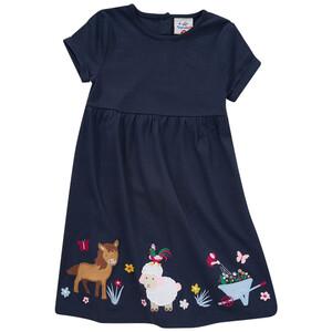 Mädchen Kleid mit tierischer Applikation