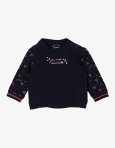 Baby Girls Sweatshirt mit Herzchen-Print