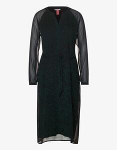 Street One - Chiffon-Kleid mit Allover-Muster