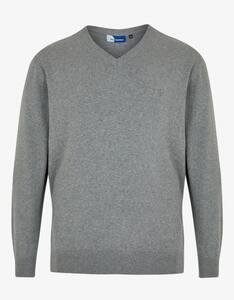 Big Fashion - klassischer Pullover mit V-Ausschnitt