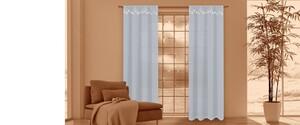 I-Glow LED-Vorhangschals, Grau - 2er-Set
