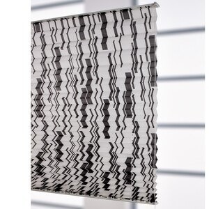 Bella Casa XXL Plissee, Faltvorhang, 175 x 80 cm, schwarz/weiß