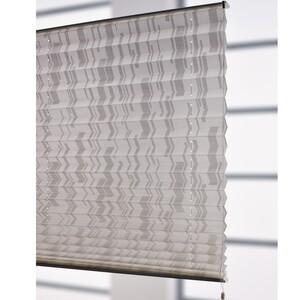 Bella Casa XXL Plissee, Faltvorhang, 175 x 80 cm, weiß/weiß