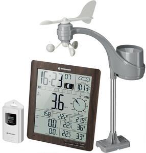 Bresser® ClimaTemp XXL Wetter Center mit 21x24x2,5cm Basisstation in Holzoptik