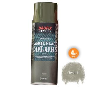 Baufix Camouflage-Sprühlacke - Desert, 4er-Set