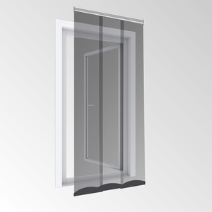 Powertec Insektenschutz Plus Lamellentür Comfort 95x220 Aluminium