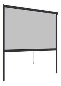 Powertec Insektenschutz Plus Rollo Fenster 130x160cm Anthrazit