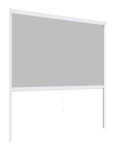 Powertec Insektenschutz Plus Rollo Fenster 130x160cm Weiß