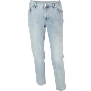 Damen Capri Jeans mit Perlendekoration