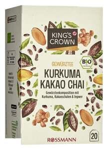 King's Crown Bio Gewürz- & Kräutertee Kurkuma-Kakao-Chai
