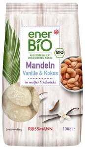 enerBiO Mandeln Vanille & Kokos in weißer Schokolade