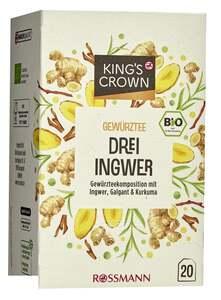 King's Crown Bio Kräutertee Drei Ingwer