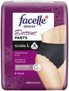 facelle diskret Dessous Pants schwarz Größe L