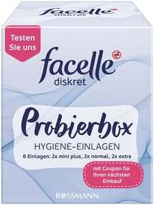 facelle diskret Probierbox Hygiene-Einlagen