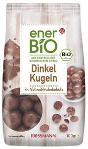 enerBiO Dinkel Kugeln in Vollmilchschokolade