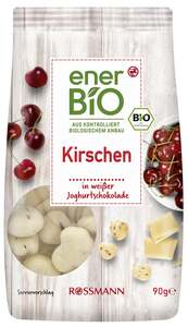 enerBiO Kirschen in weißer Joghurtschoko
