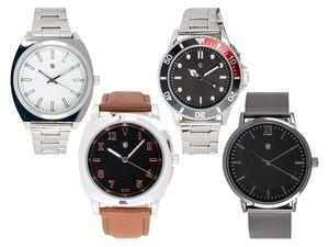 AURIOL® Armbanduhr Herren, mit Metallgehäuse