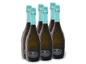 6 x 0,75-l-Flasche Weinpaket Allini Moscato Vino Spumante mild, Schaumwein