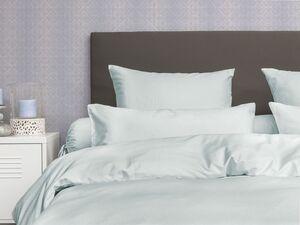 Face-2-Face Satin Bettwäsche »Uni Puntini chalk blue«, verschiedene Größen, aus Baumwolle