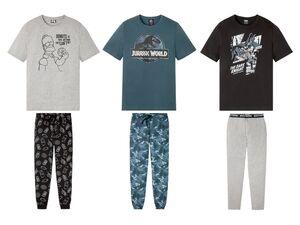 LIVERGY® Pyjama Herren, mit Gummizugbund, mit Baumwolle