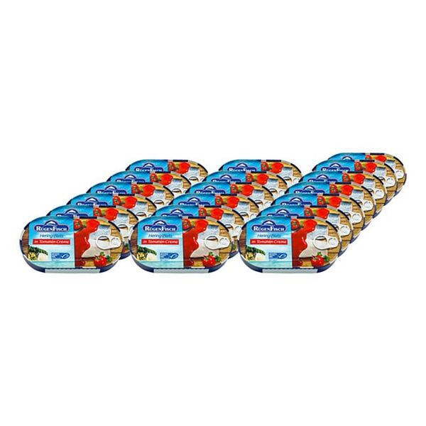 Rügenfisch Heringsfilet Tomate MSC 200 g, 19er Pack