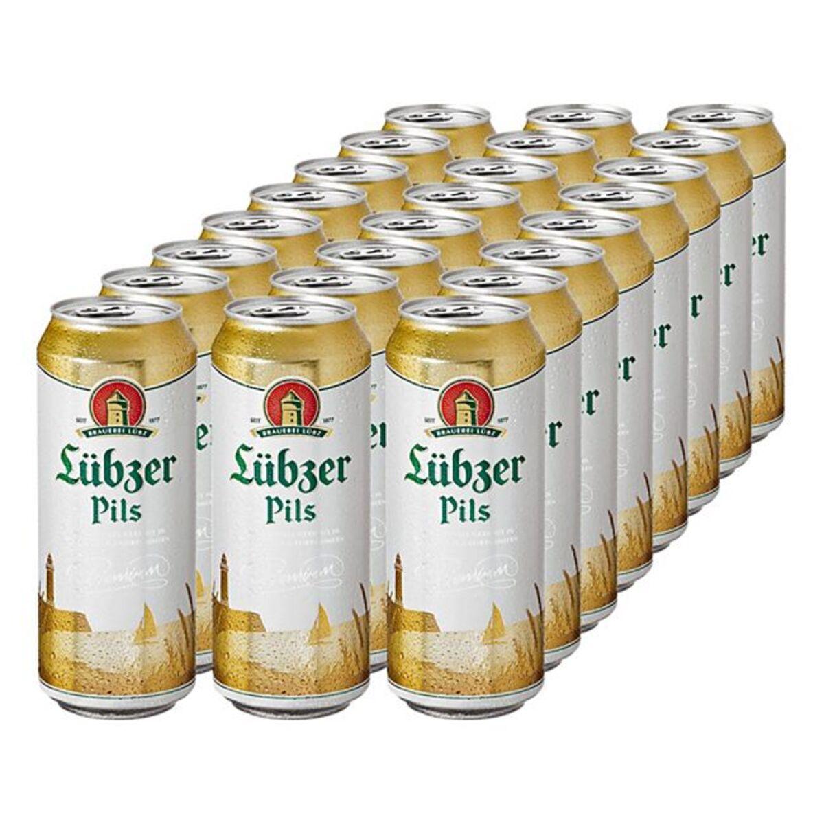 Bild 1 von Lübzer Pils 4,9 % vol 0,5 Liter Dose, 24er Pack
