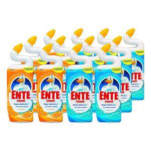WC-Ente Total Aktiv Gel flüssiger WC-Reiniger 750 ml, verschiedene Sorten, 12er Pack