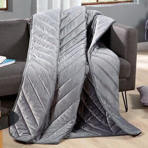 Samt-Tagesdecke Grau 150x200 cm1